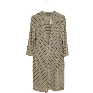 Chico's Travelers Duster Striped Long Line Cardiga